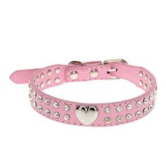 Wowlife Top Pet Dog Leash 2 Rows Rhinestone Bling Heart Studded Leather Dog Collar for Pet Colla -- You can get additional details at the image link. (This is an affiliate link and I receive a commission for the sales) Bling Dog Collars, Diy Dog Collar, Puppy Collars, Leather Dog Collars, Cat Collars, Neck Collar, Diy Collier, Cat Dog, Pet Puppy