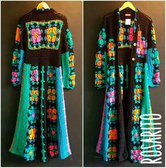 Transcendent Crochet a Solid Granny Square Ideas. Inconceivable Crochet a Solid Granny Square Ideas. Crochet Jumper, Crochet Jacket, Granny Square Crochet Pattern, Crochet Granny, Dresses For Pregnant Women, Hippie Crochet, Formal Dress Shops, Fashion Project, Crochet Fashion