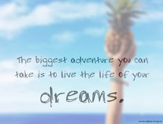 the biggest adventure you can take is to live the life of your dreams.
