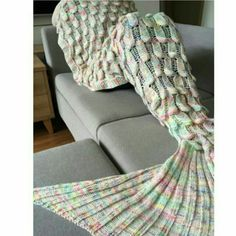8e1aef15e65a My other multicolored mermaid snuggie! So cozy. Buy both blue one and this  one