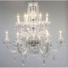 Gallery Venetian-style All-crystal 12-light Chandelier #homeremodeling