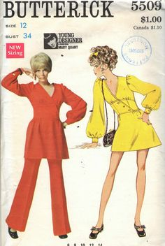 Butterick 5509 Mary Quant. I have some 60's and 70's patterns from my Mom who use to sew for us girls, love looking at them!!