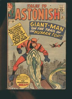 Comics from http://graphic-illusion.com has appeared in my Ebay store many times and I can list it for you there upon request if you wish to buy this.  Ant Man, Gian Man is a character that later appeared in the AVENGERS soon to be a commercial film.  From a Marvel comic book.  Originally appeared in Tales to Astonish #27 in the 1960's.  The comic showing also has Wasp his wife a character in the Avengers too (and will be in the film).  Henry Pym  is a Scientist.  Also see Atlas prototype…