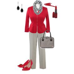 """""""plus size day at the office"""" by penny-martin on Polyvore"""