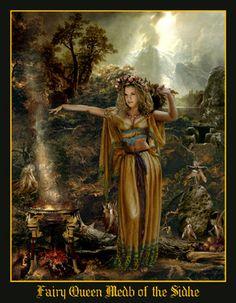 The Fairy Paintings Art Gallery:The Celtic Faerie Art of Howard David Johnson featuring Fairy Paintings, Fairy Drawings & Digital Fairy Art Celtic Goddess, Celtic Mythology, Fairies Mythology, Goddess Art, Fairy Paintings, Fairy Drawings, Fairy Queen, Vampire, Celtic Art