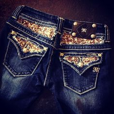 Gold Sequin Miss Me Jeans...just bought these and love them!!! :)