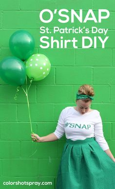 Luck O' the Snap to you on this St. Paddy's Day!  Making this adorable shirt was quick and easy using Tulip ColorShot Instant Fabric Spray!  Full details and pattern available.