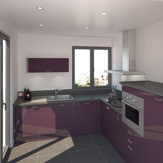 Cuisine on pinterest deco cuisine plan de travail and - Meuble cuisine petit espace ...