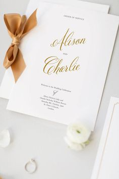 PRINTED Order of Service Wedding Program Booklet size A5
