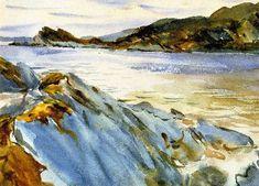 Loch Moidart Inverness shire   John Singer Sargent   oil painting