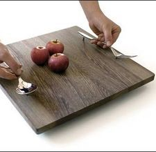 plain wooden tray (maybe with small feet)