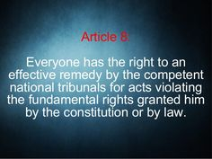 Basic Human Rights - Article 8 Human Rights Articles, Constitution, Acting, Cards Against Humanity, Bill Of Rights