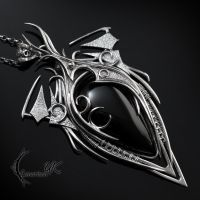 NADRTHRYL - silver and black onyx by LUNARIEEN