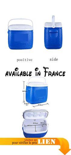 B073P86WN8 : Boîte frigorifique isolée 36L pour camping Bleu  B. Grande capacité de 36 litres. 1 grand compartiment de refroidissement - peut être adapté à environ 40 x 330 ml. Dimensions internes: 410  260  39 (MM). Poignées bidirectionnelles pour faciliter le levage et l'entreposage. Porte-mousse en polyuréthane sans CFC entièrement résistant aux taches et aux odeurs et résistant aux odeurs / poignée pivotante Easy-carry: étagère amovible pour un rangement