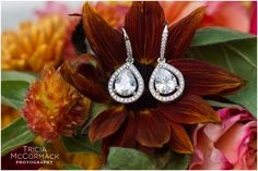 Earrings - Berkshire County Fall Wedding - Tricia McCormack Photography