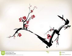 Blossom Painting Stock Image - Image: 36340991