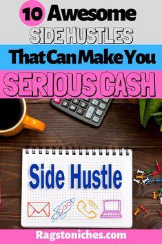 10 Legit Side Hustles, That Have Made Me Thousands! Make Money Fast Online, Online Cash, Hobbies That Make Money, Make Money Blogging, Online Shopping, Cash From Home, Make Money From Home, Way To Make Money, Hustle Money
