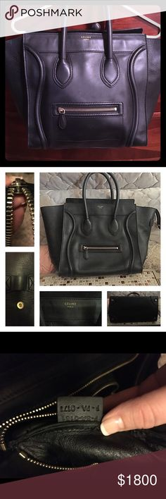 Celine MIni Luggage Like new make an offer. Celebrities are seen with this handbag all the time. Beautiful classic style. Make an offer!!!! Celine Bags Totes
