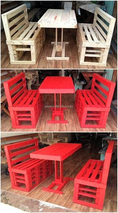 recycled pallets made furniture