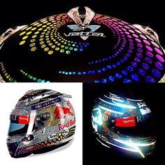 F1 GP Singapore Vettel's helmet
