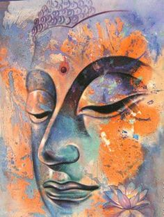 """If a person seeking a companion cannot find one who is better than or equal to him, let him absolutely go alone; there can be no companionship with the foolish."" ~ The Buddha, Dhammapada ♥ lis Buddha Face, Buddha Zen, Gautama Buddha, Buddha Buddhism, Buddhist Art, Yoga Kunst, Buddha Kunst, Buddha Painting, Yoga Painting"