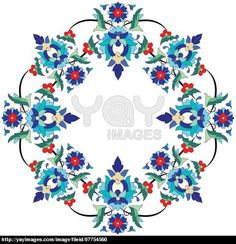 YAY Images - Ottoman motifs design series seventy three by antsvgdal Persian Pattern, Arabic Pattern, Islamic Patterns, Tribal Patterns, Ceramic Painting, Fabric Painting, Mirror Mosaic, Turkish Art, Crafts
