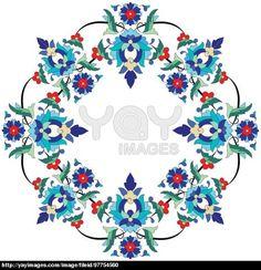 Ottoman motifs design series seventy three