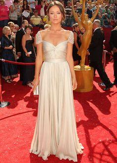 reem acra - long white dress - gown