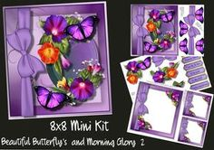 8x8 Mini Kit Beautiful Butterfly's And Morning Glory 2