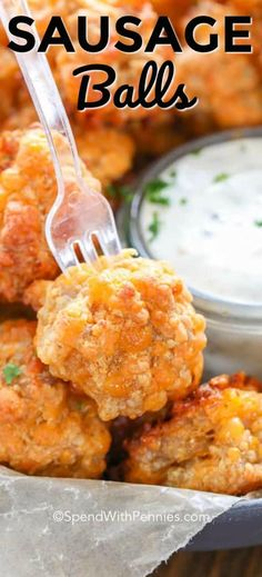 Sausage Balls are easy, cheesy and oh so delicious! These 3 ingredient sausage balls are a great addition to your snack or party ideas, and are perfect served any time of year! Another option using Italian sausage! Sausage Appetizers, Finger Food Appetizers, Holiday Appetizers, Finger Foods, Appetizer Recipes, Party Appetizers, Easy Make Ahead Appetizers, Delicious Appetizers, Savory Snacks