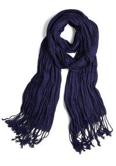 Crinkle in Time Scarf in Indigo, #ModCloth