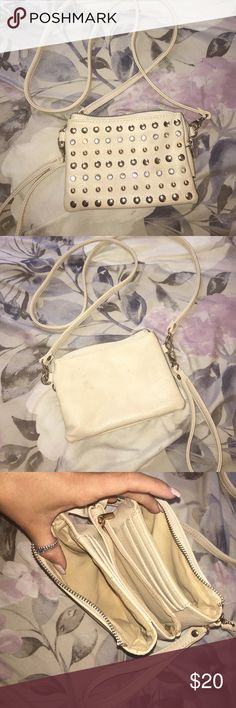 Small shoulder bag Small shoulder bag with rhinestones in clear and gold. Pockets for cards and change and 2 additional pockets for other things. Never used WINDSOR Bags Shoulder Bags