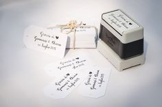 Timbro personalizzato #stamp #timbro #wedding #tag #matrimonio