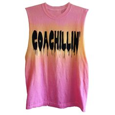 Coachillin' Tank ❤ liked on Polyvore featuring tops, shirts, tie-dye tops, tie dye shirts, tie dye tank, tie die shirts and tie dyed tank tops