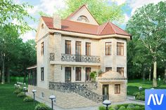 3D visualization of the home exterior