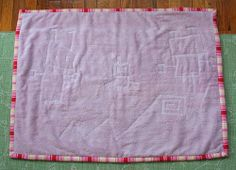 Towel Mat Tutorial - Use old towels for a nice drip mat.