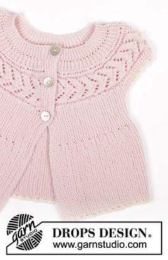 Розовая кофточка для девочки, вязание детям,Drops, кофточка платочной вязкой, платочная вязка, ажурные узоры