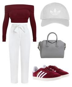 """""""Untitled #6"""" by emmykarllsonn on Polyvore featuring Zimmermann, adidas, Topshop and Givenchy"""