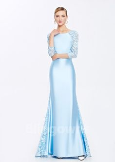 Embroidery Dacron Bateau Zipper Mermaid Floor Length 3/4 Sleeves Homecoming / Prom Dresses Bridesmaids, Bridesmaid Dresses, Prom Dresses, Formal Dresses, Wedding Dresses, Mermaid Dresses, Homecoming, Floor, Gowns