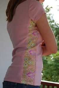 rip shirt side seam and add fabric triangle - Google Search