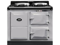 2 Oven AGA Night Storage Cast Iron Range Cooker - Pearl Ashes Colour