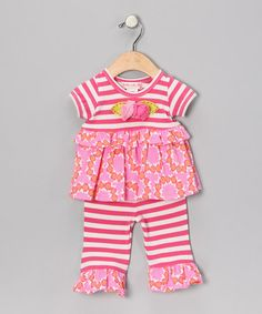 Take a look at this Fuchsia Flower Tunic & Leggings - Infant & Toddler by Baby Lulu on #zulily today!