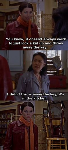 charming life pattern: gilmore girls - quote - the key is in the kitchen ...