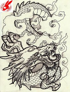 japanese dragon tattoo design by jackie rabbit   Flickr - Photo Sharing!