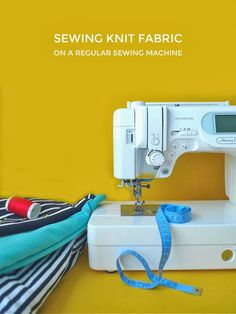 /this was quite helpful when I was sewing my first knit item (an oversized infinity scarf) just the other day!/ Tilly and the Buttons: Sewing Knit Fabric on a Regular Sewing Machine Sewing Basics, Sewing Hacks, Sewing Tutorials, Sewing Crafts, Sewing Patterns, Sewing Tips, Tutorial Sewing, Sewing Ideas, Techniques Couture