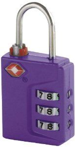 Travel Smart Travel Sentry 3-Dial Lock TSA Approved, Purple by Travel Smart. $10.99. Easy to reset inspection status and lock combination. Light weight, sturdy, rust-resistant steel housing. When TSA screeners open the lock using their secure tools. This Travel Smart TSA 3-dial inspection status lock is the all-around luggage lock. The inspection status indicator appears at bottom of shackle when TSA screeners open the lock using their secure tools or when the ...