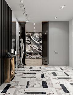 Deluxe Plaza .Baku-Azerbajan on Behance Lobby Interior, Flat Interior, Luxury Interior, Interior Design Living Room, Interior Architecture, Floor Design, Tile Design, India Home Decor, Hotel Lobby Design