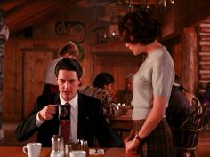 "Agent Cooper tells Audrey, ""Damn fine cup of coffee."" - Twin Peaks"