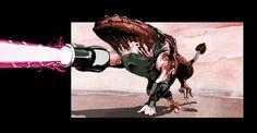Mutant creature of the radioactive desert - concept art