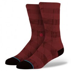 Stance | Bushwick Red Red, Maroon socks | Buy at the Official website Stance.com.
